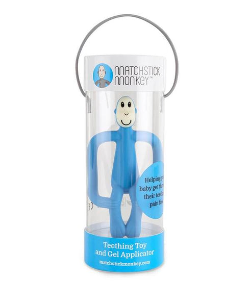 Matchstick Monkey Teething Toy - Baby Blue
