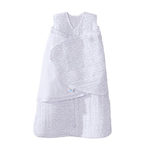 Halo Sleepsack Swaddle Muslin Gray Circles