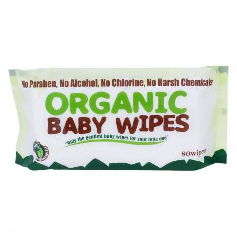 Organic Baby Wipes 80's without cap