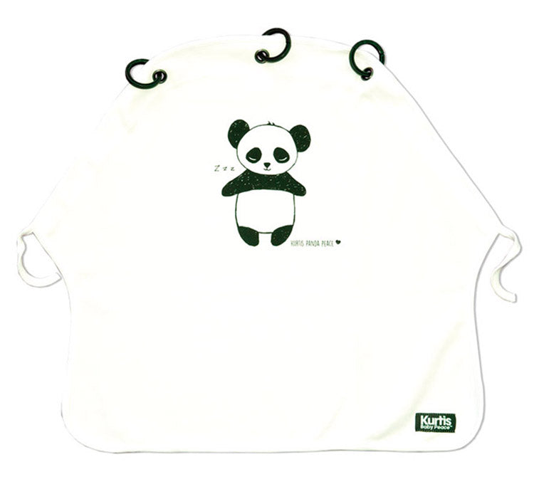 Kurtis Pram Curtain Panda - Black & White