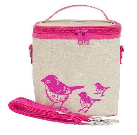 So Young Insulated Cooler Bags Pink Birds