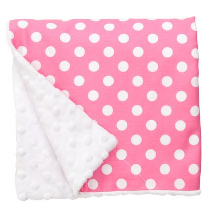 Baby Elephant Ears Large Pink Dot Blanket