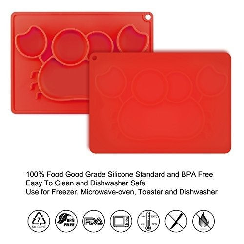 Little Green Crab Silicone Placemat Plate