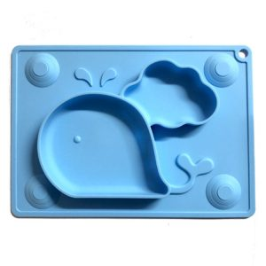 Little Green Whale Silicone Placemat Plate