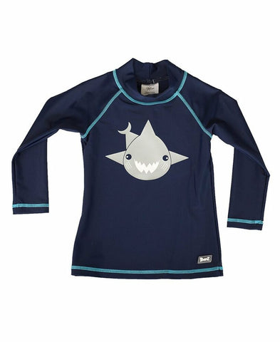 Banz Baby Long Sleeve Rash Top - Shark Navy Blue