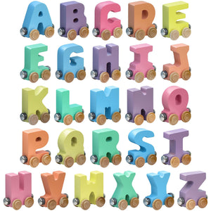 Maple Landmark Name Train Pastel Letters
