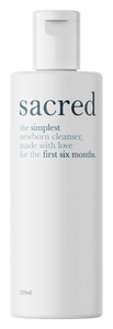 Sacred 250ml Newborn Cleanser
