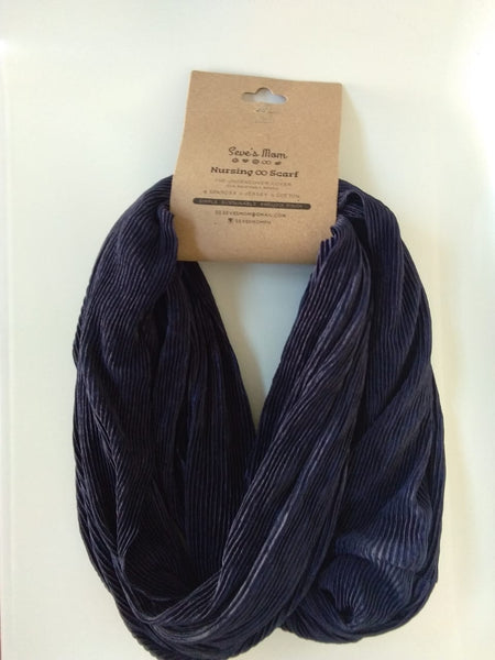 Seve's Mom Nursing Infinity Reversible Scarf - Textured Navy