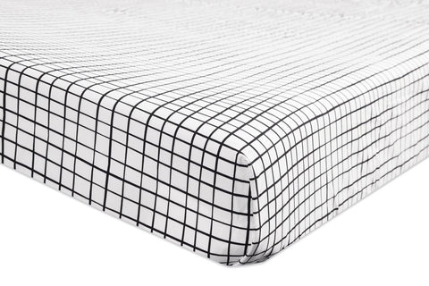 Babyletto Tuxedo Fitted Crib Sheet - Grid
