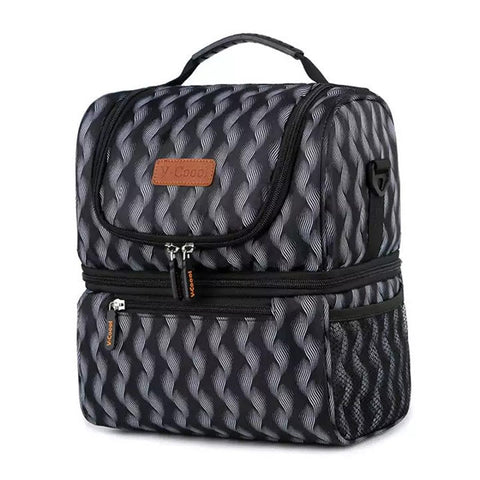 V-Coool Continental Double Ice Bag - Black Wave