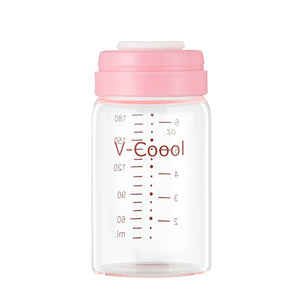V-Coool Glass Wide Neck Storage Bottle 180ml