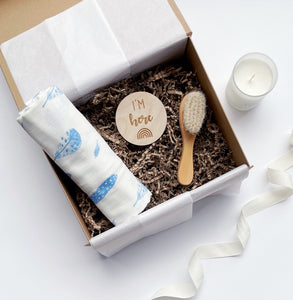 The I'm here Blue Baby Box