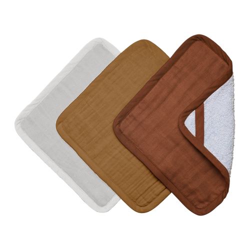 Washcloths - 3 Pack - Wood