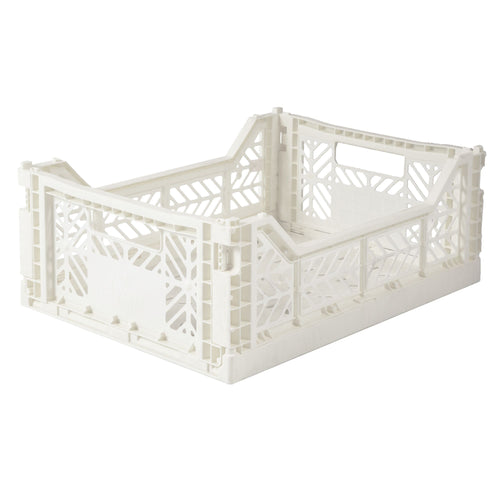 Coconut Milk Folding Crate - Medium