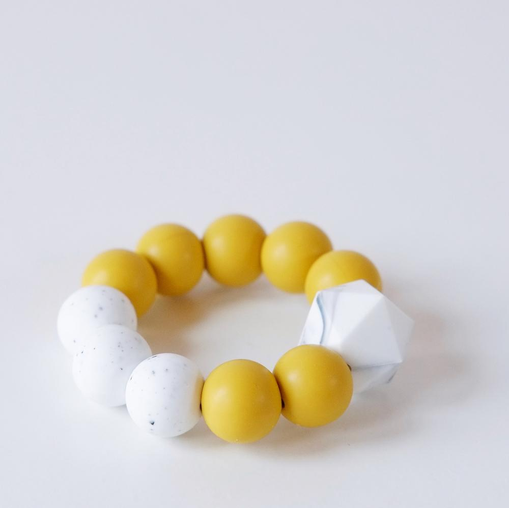 Colour pop silicone teething toy - Mustard
