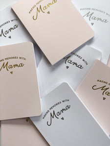Making Memories with Mama Soft Notebook - White
