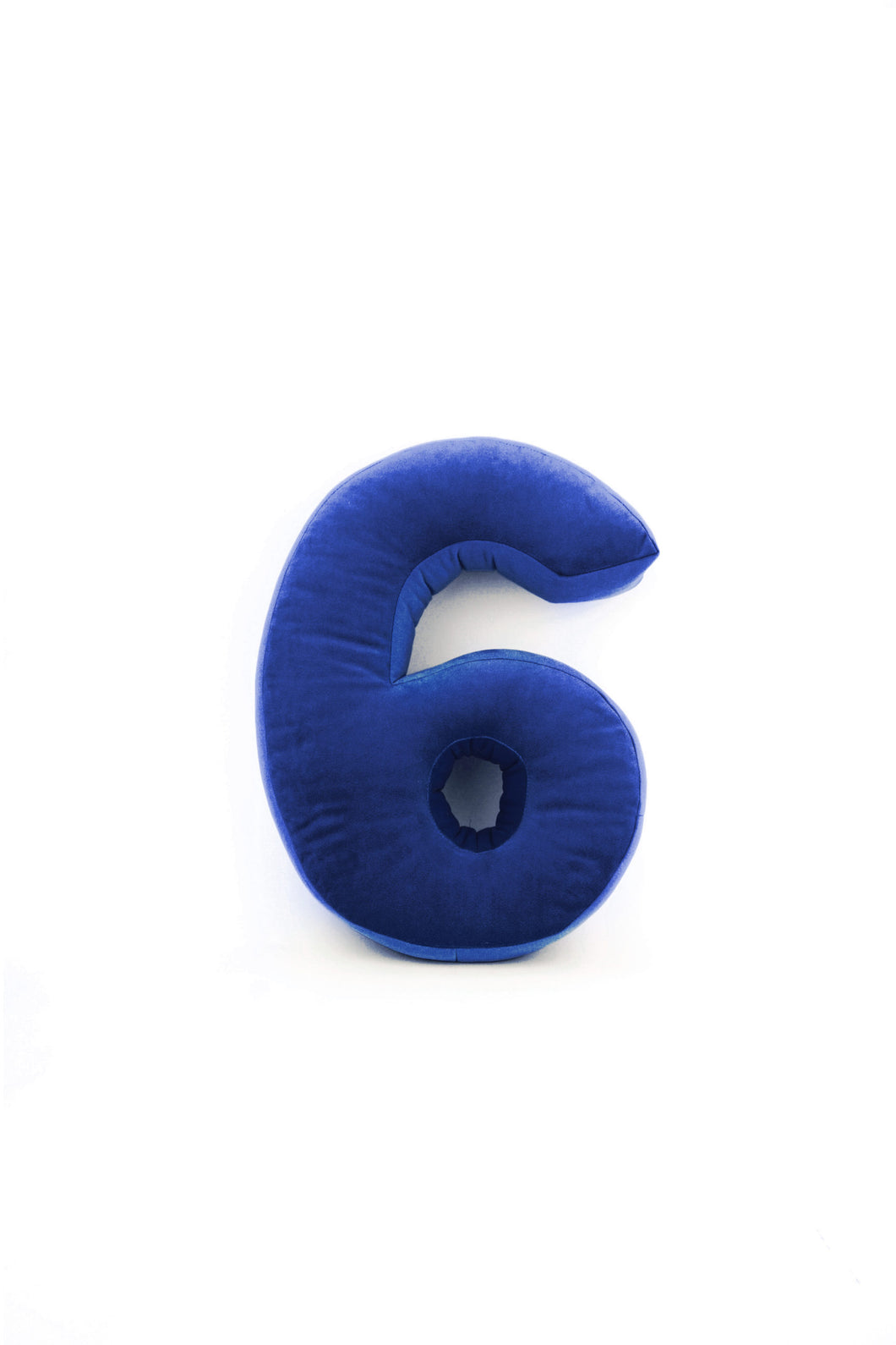 Velvet Number Cushion - Navy (all numbers)
