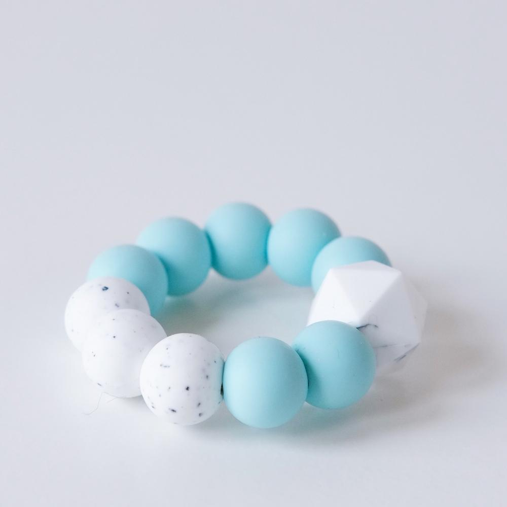 Colour pop silicone teething toy - Mint