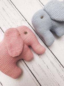 Knitted Organic Elephant Rattle