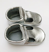 Leather Baby Moccasin shoe - Silver