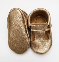 Leather Baby Moccasin shoe - Gold