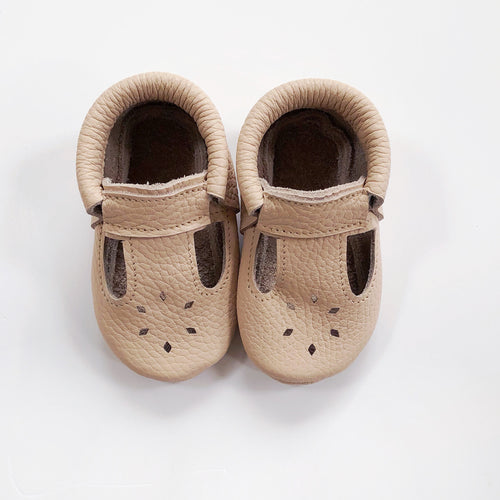 Leather Baby Moccasin shoe - Blush