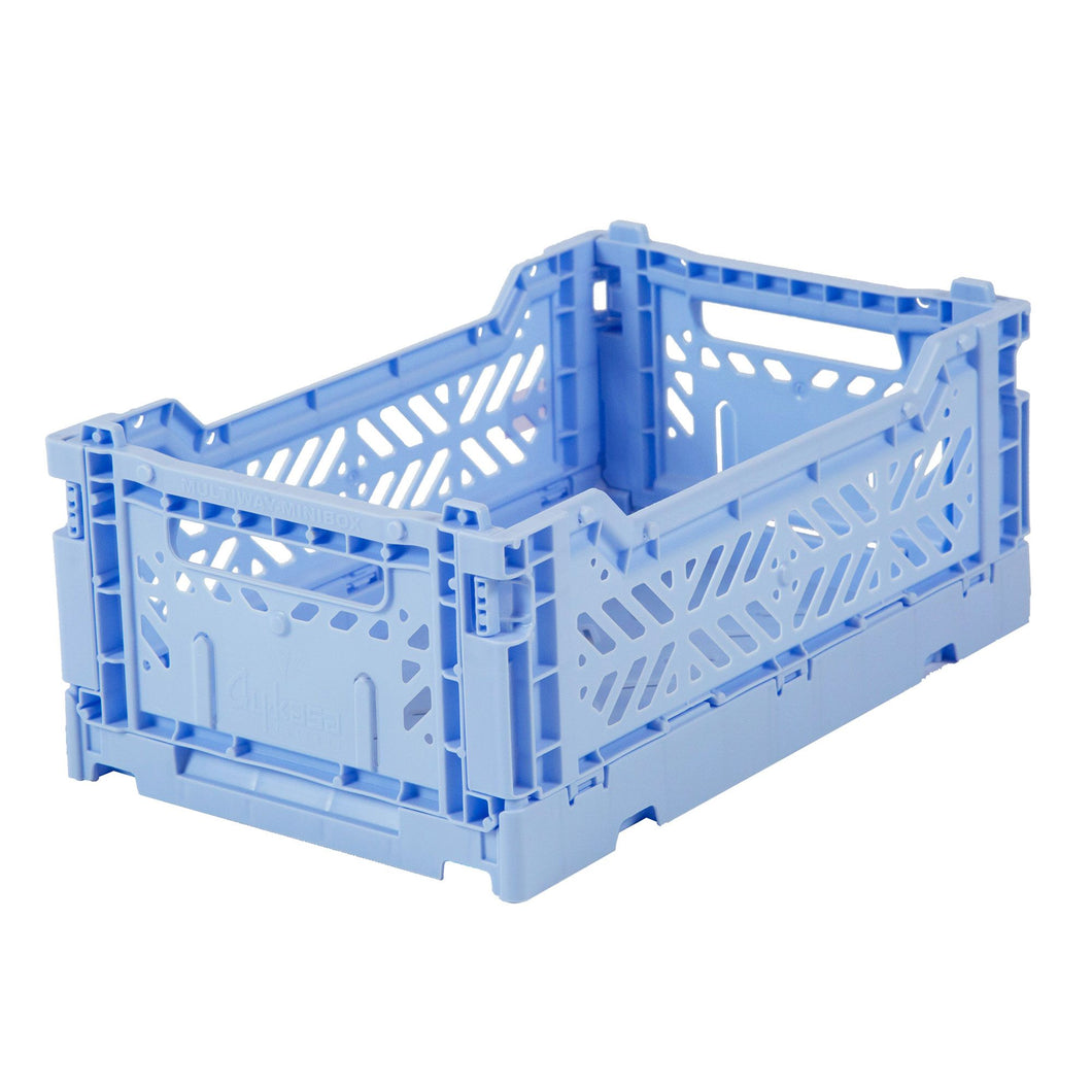 Baby Blue Folding Crate - Small