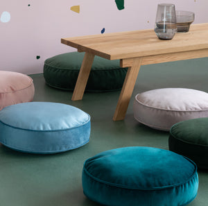 Small Velvet Pouf Cushion - 8 colours
