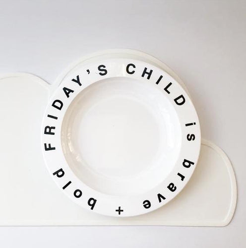 Friday's Child Plate