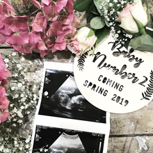 Coming... Announcement Pregnancy Plaque