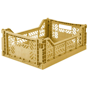 Gold Folding Crate - Medium