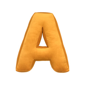 Velvet Alphabet Letter Cushion - Yellow (all letters)
