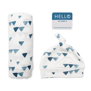 Hat and Swaddle Blanket set - Triangle