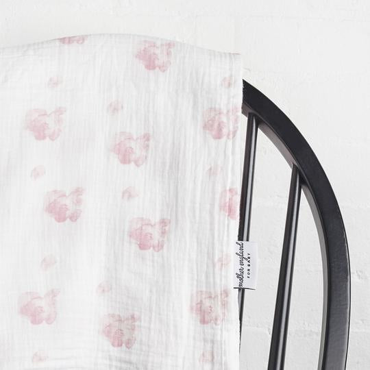 XL Swaddle - Peony Pink
