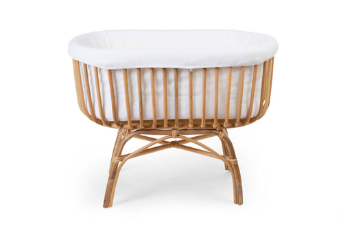 Childhome Rattan Cradle, Mattress and Cover