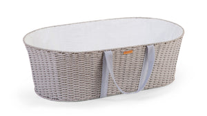 Childhome Moses Basket and Rocking Stand (including Mattress and lining) - Grey