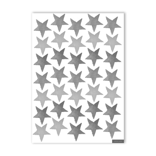 Stars Wall Stickers - Black & White