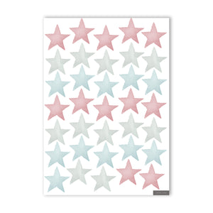 Stars Wall Stickers - Ocean Blues & Blush