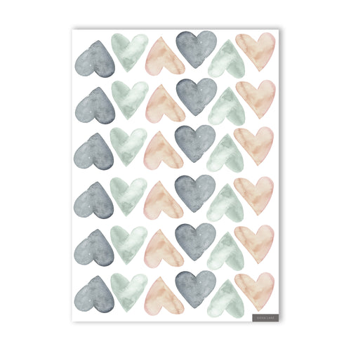 Heart Wall Stickers - Mix