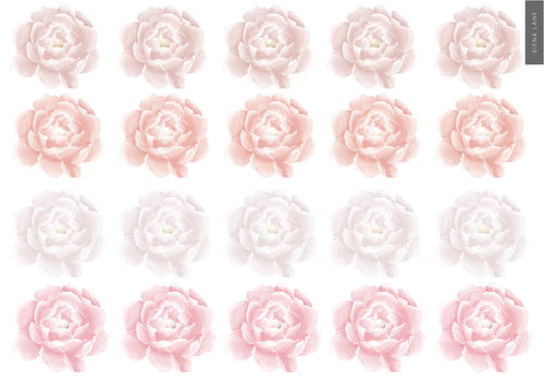 Mini Peonies Wall Stickers