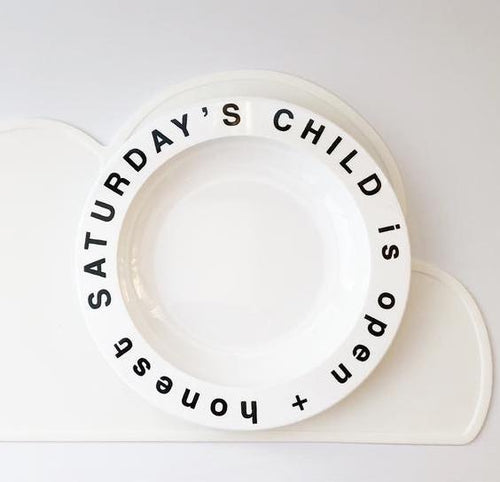 Saturday's Child Plate
