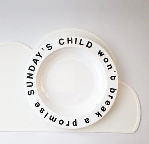 Sunday's Child Plate