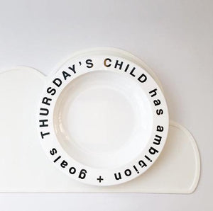 Thursday's Child Plate