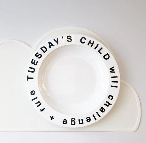 Tuesday's Child Plate