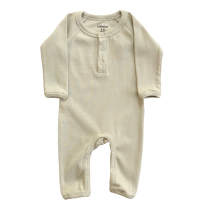 Ribbed Baby Romper - Stone
