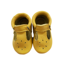 Leather Baby Moccasin shoe - Mustard