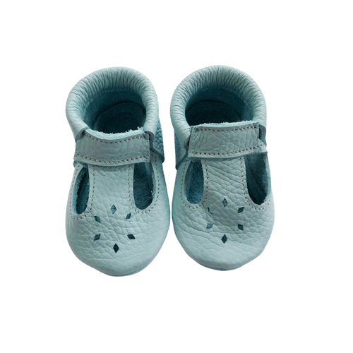 Leather Baby Moccasin shoe - Mint