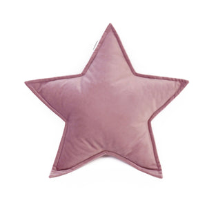 Velvet Star Shaped Cushion - Old Rose
