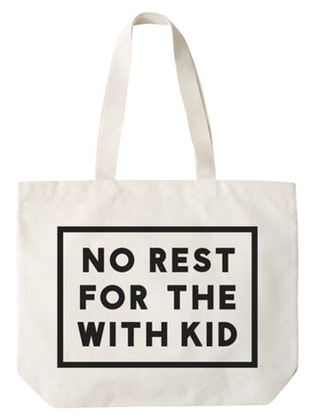 No Rest for the With Kid - Big Canvas Tote Bag