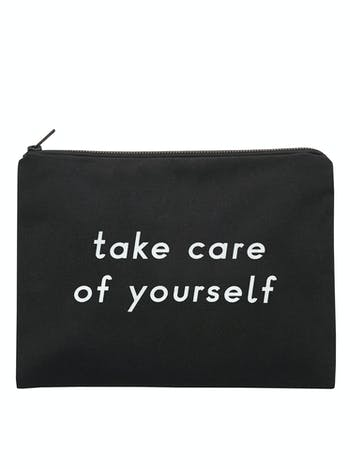Take Care of Yourself - Black Pouch